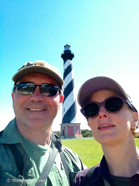 Us at Hatteras Lighthouse