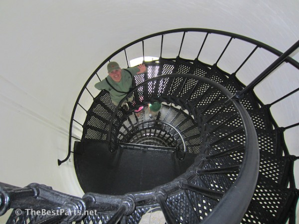 inside Bodie Island Lighthouse