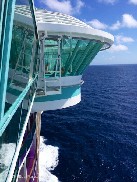 Freedom of the Seas cantilevered whirlpool