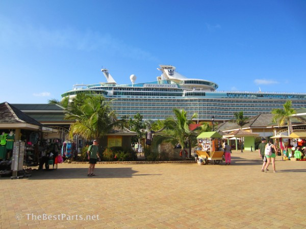 Freedom of the Seas docked in Falmouth Jamaica